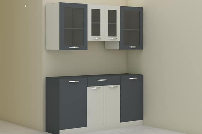 Grey White Wooden Crockery Unit Concept Magnon India