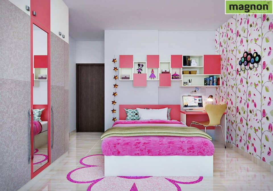 Best Interior Designers Bangalore - Teenage Girls Bedroom ... on Teen Rooms For Girls  id=23251